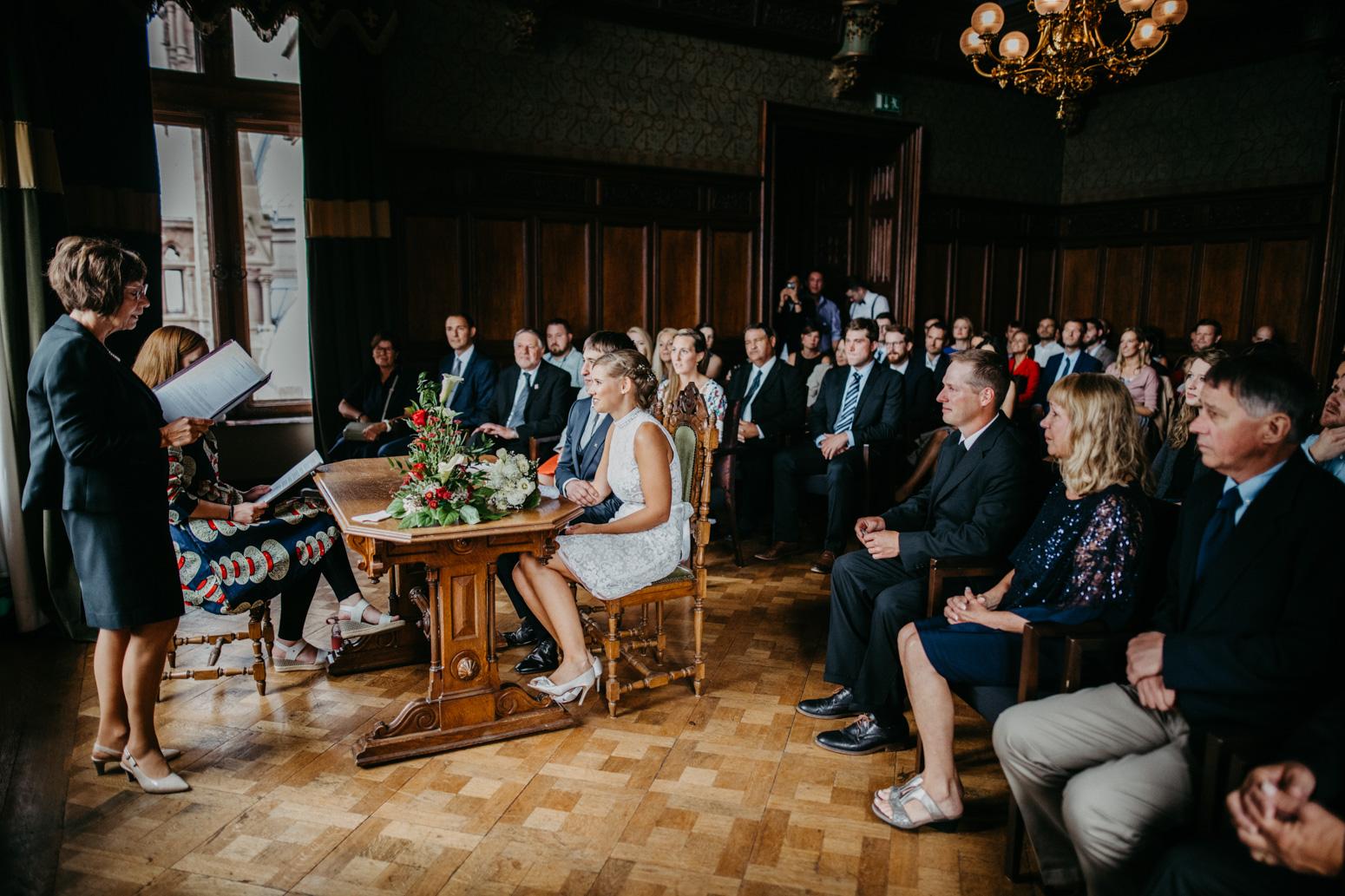 deutsch-amerikanische Trauung auf Schloss Drachenburg in Königswinter