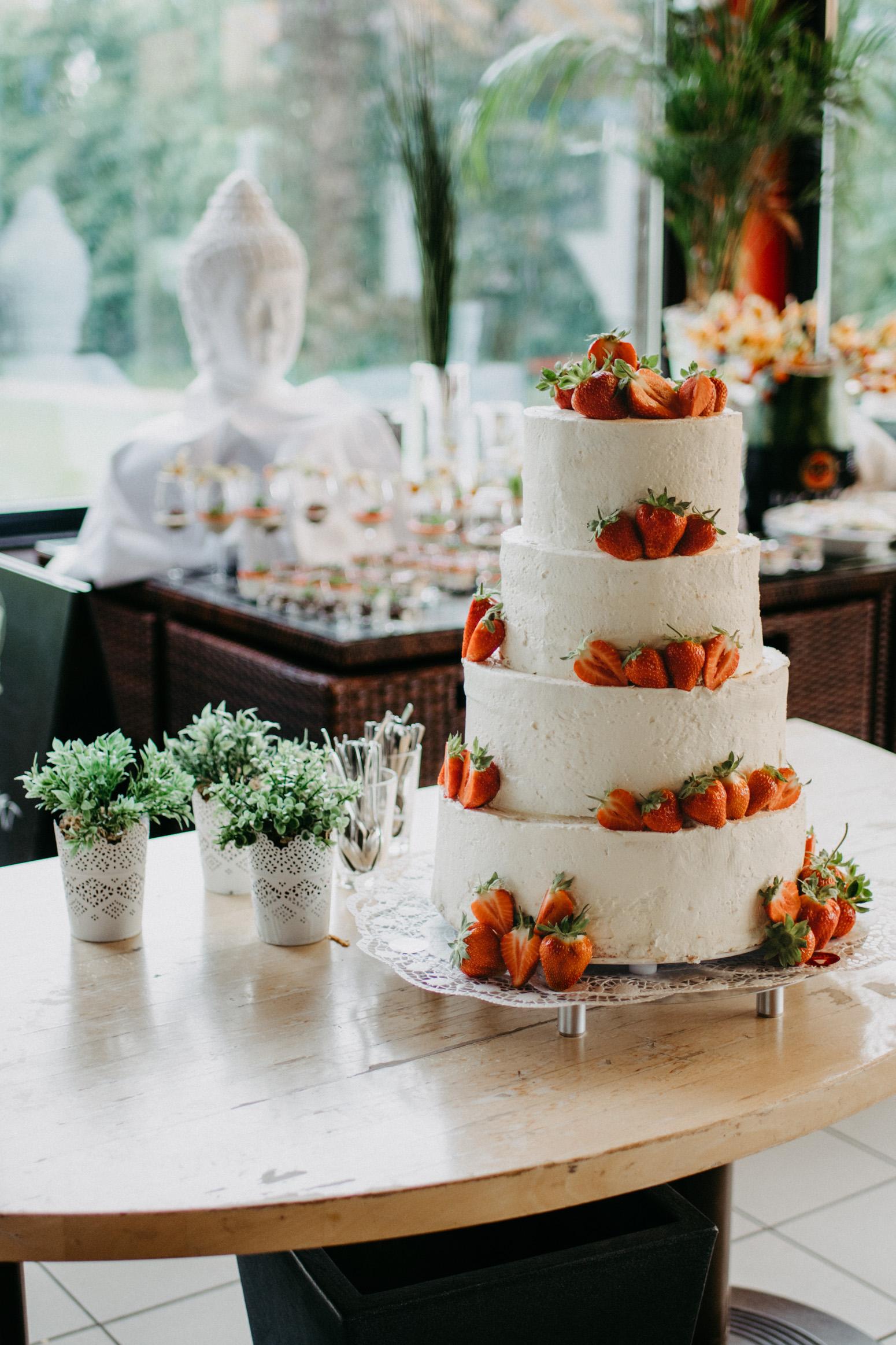 Hochzeitstorte von Martin Heimbach in der R-Lodge in Bad Honnef