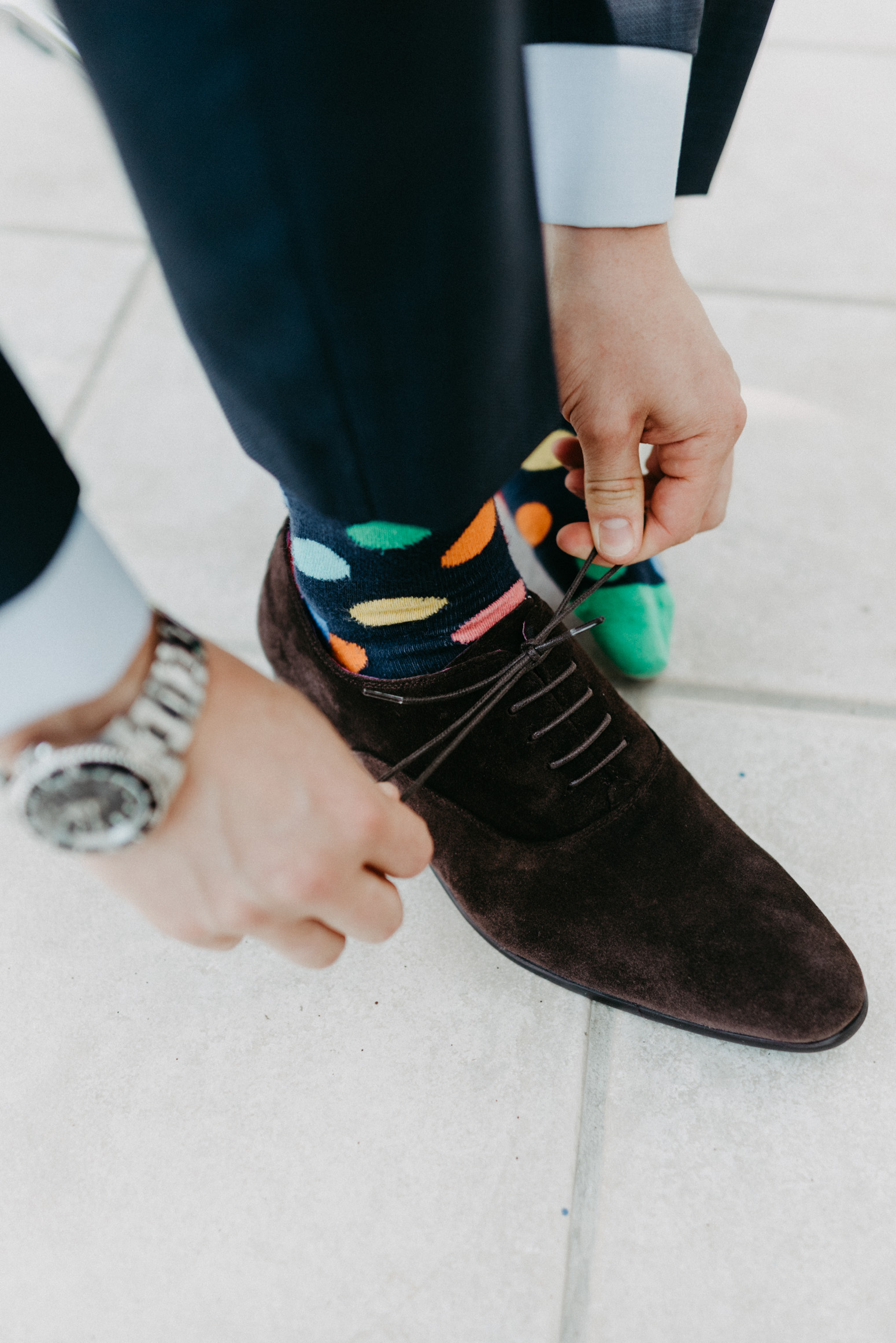 Happy Socks für den Bräutigam.
