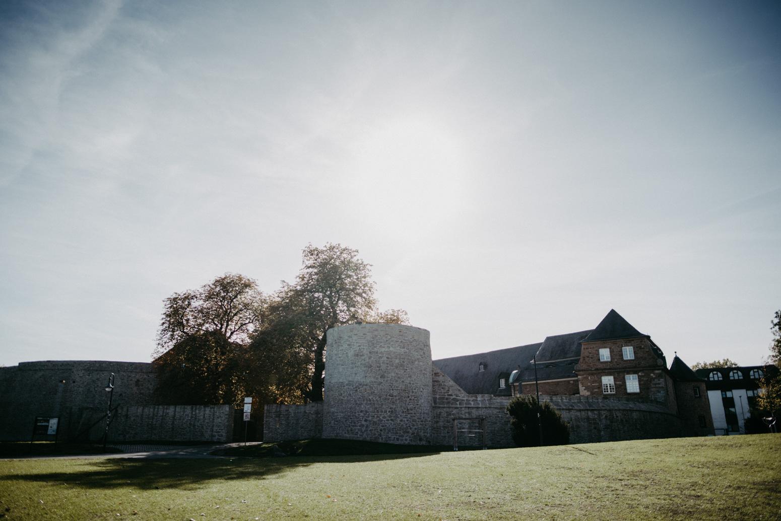 Schloss Broich, Mülheim an der Ruhr, Ansicht vom Park