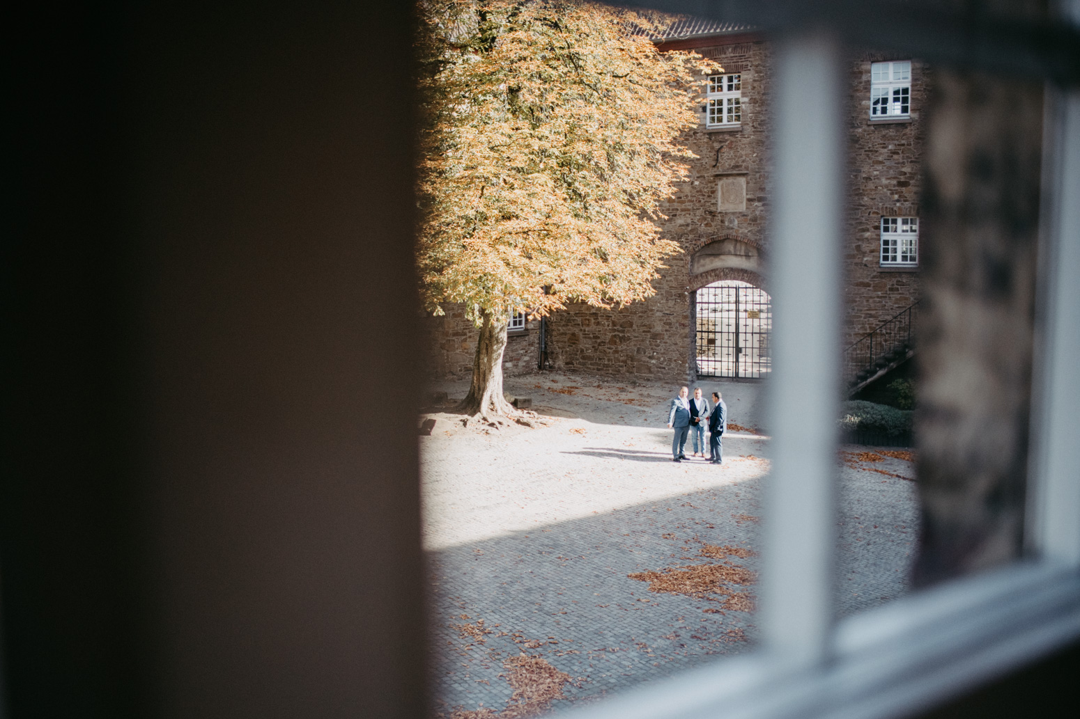 Aussicht auf den Hof des Schloss Broich