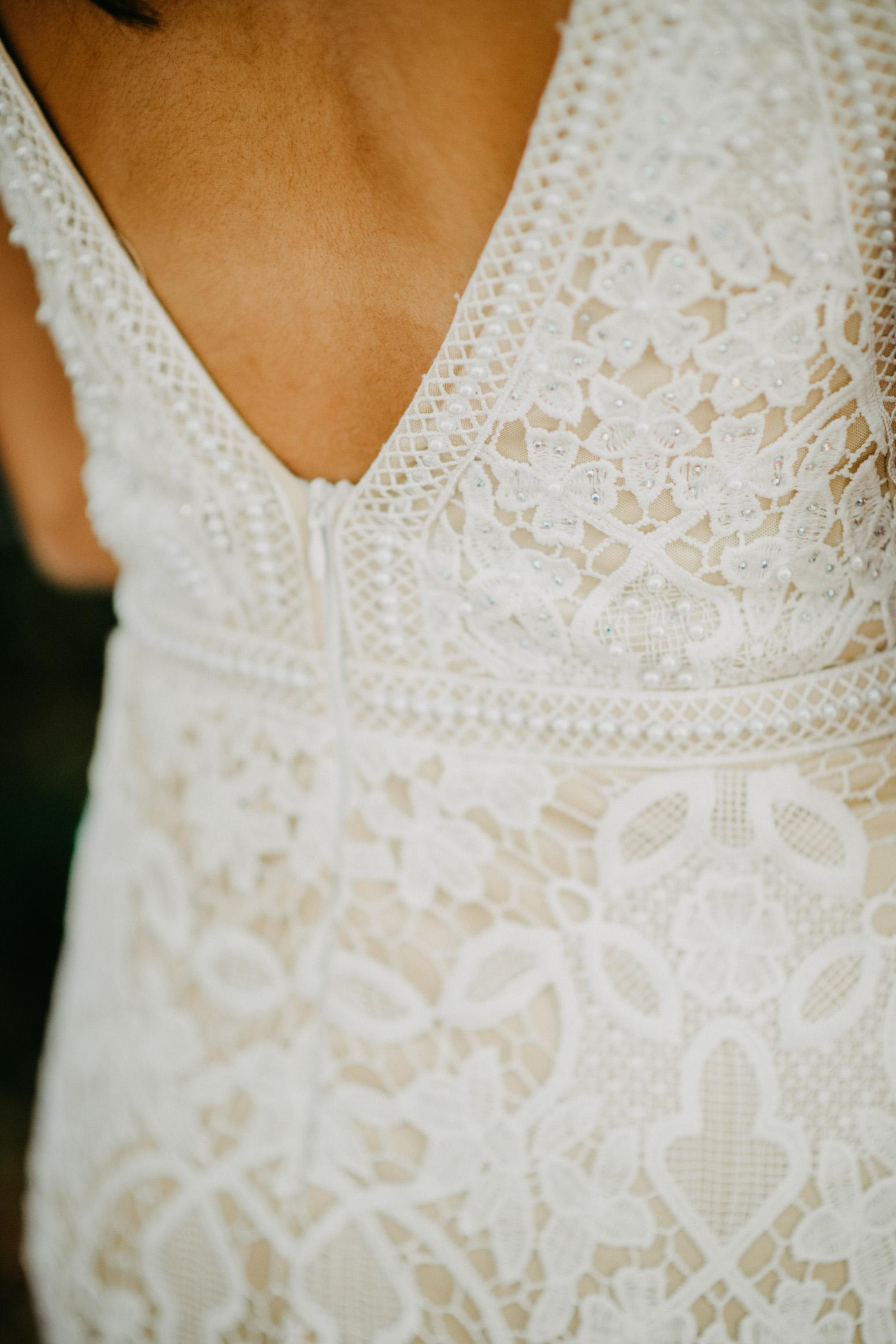 Detailfoto des Kleides, Foto von Genuine Bonds